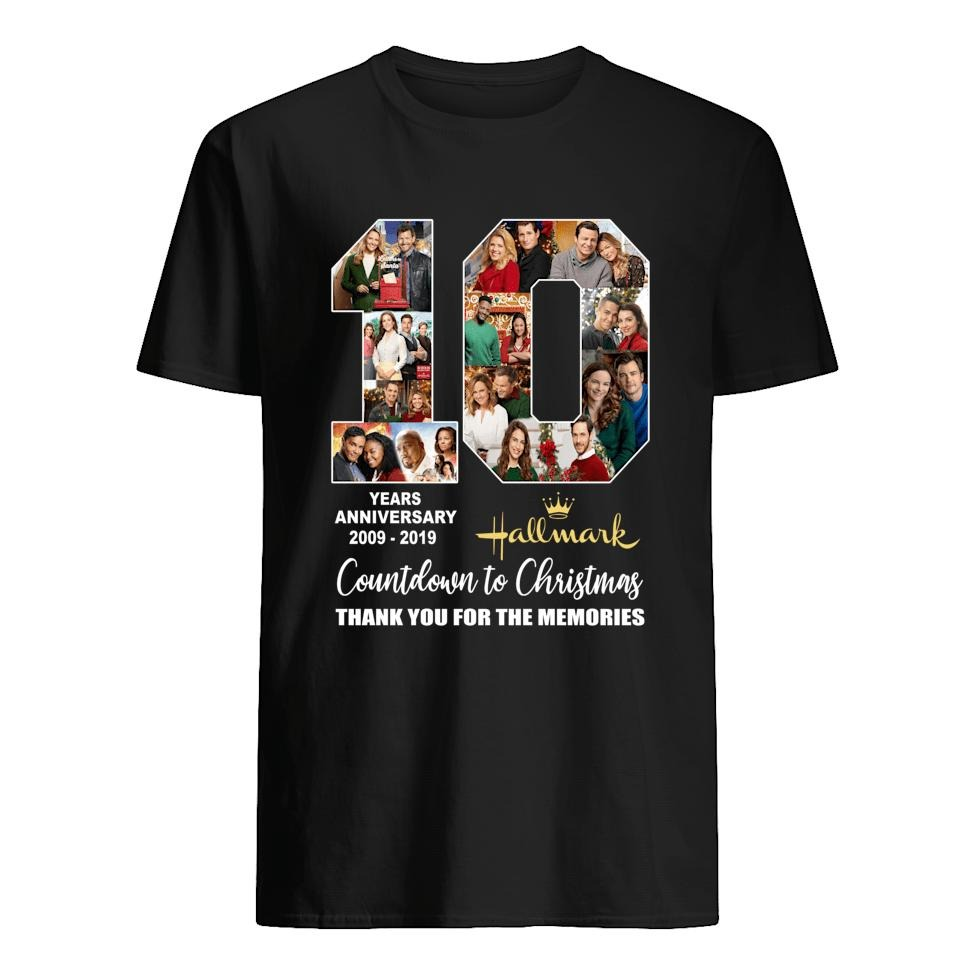 10 Years Anniversary 2009 2019 Of Hallmark Countdown To Christmas Shirt