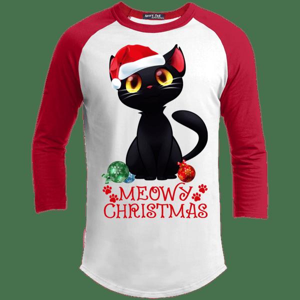 Black Cat Meowy This Is My Pajama Christmas Sporty T Shirt