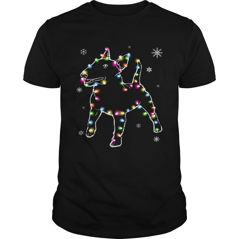 Bull Terrier Christmas Lights Unisex
