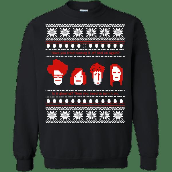 Christmas Reboot T Shirt Ugly Sweater Novelty Sweatshirt Black Unisex
