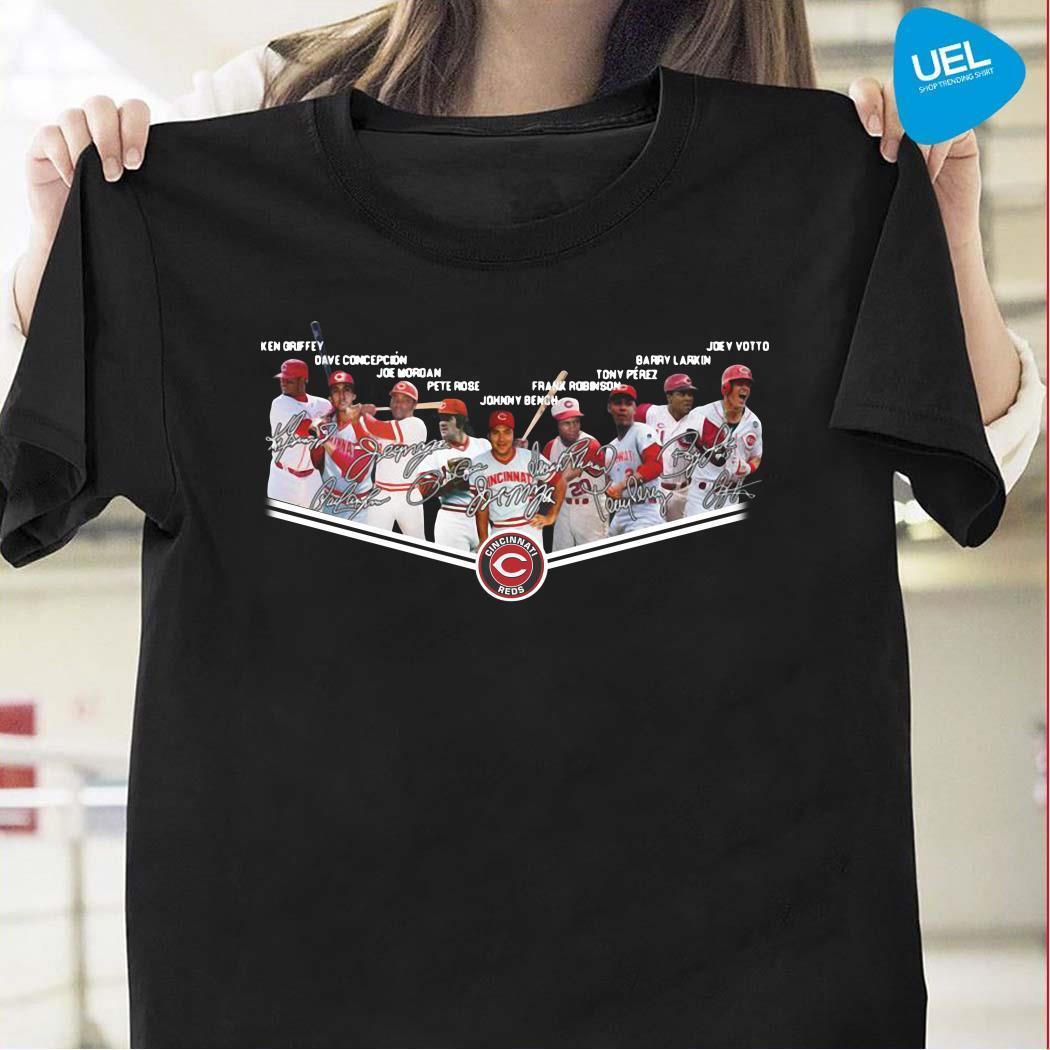 Cincinnati Reds Players Team Signatures T Shirt