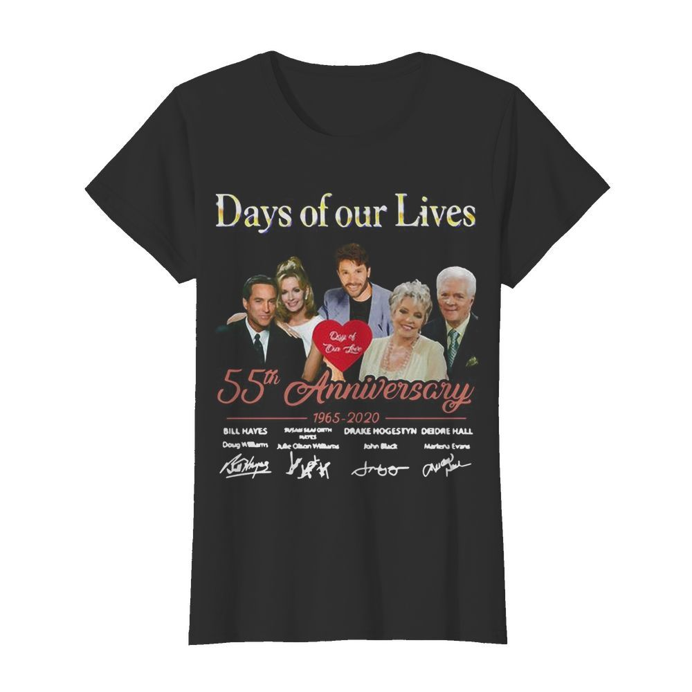 Days Of Our Lives 55th Anniversary 1965 2020 Signatures Classic Women's T-shirt