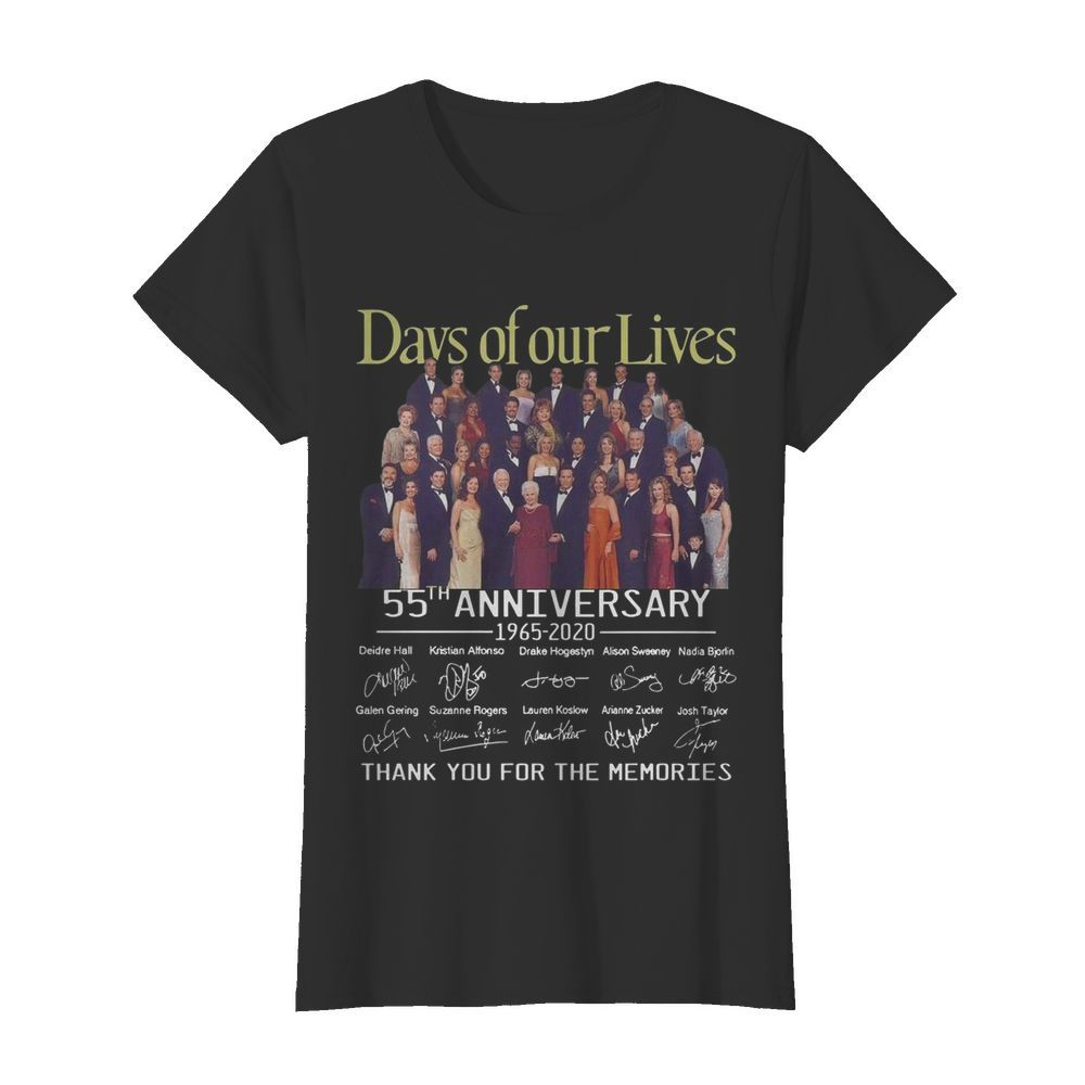 Days Of Our Lives 55th Anniversary Full Cast Signature Thank You For The Memories Classic Women's T-shirt