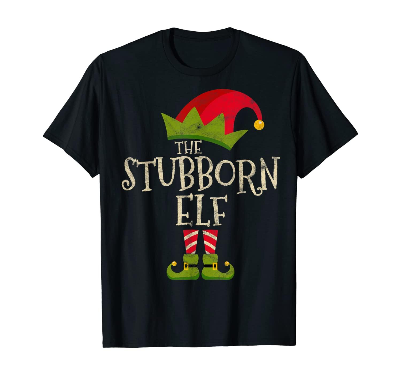 Easy The Stubborn Elf Costume Family Group Gift Christmas T Shirt Unisex Tshirt