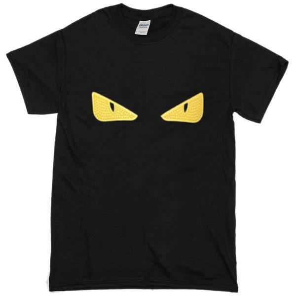 Fendi Monster Eye Zip Front T Shirt