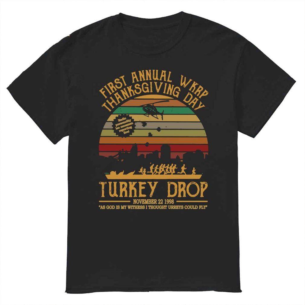 First Annual Wkrp Thanksgiving Day Turkey Drop Sunset Shirt