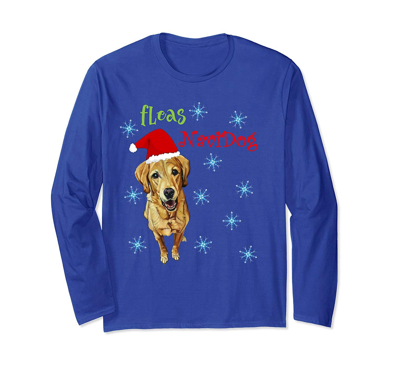 Fleas Navidog Labrador Dog Lover Shirt Funny Christmas Shirt