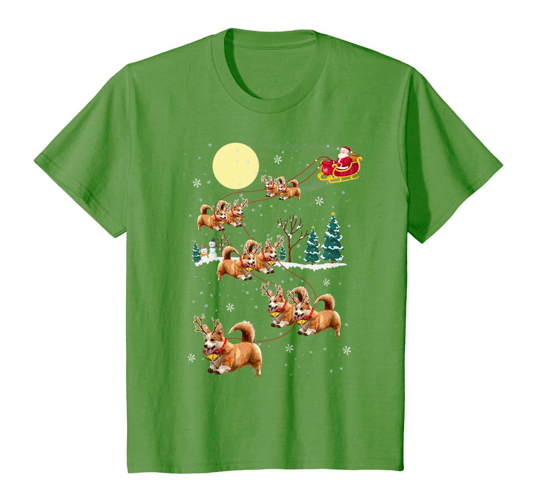 Funny Corgi Christmas T Shirt Xmas Pajama Gift Tee Unisex Tshirt