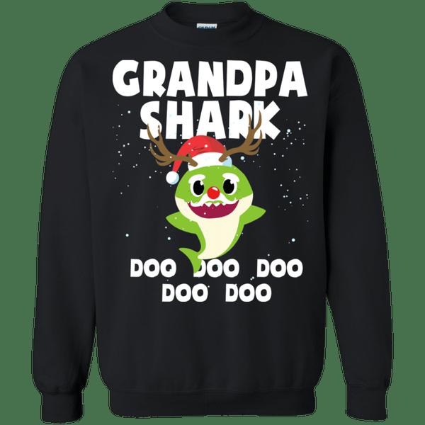 Grandpa Shark Costume Reindeer Funny Christmas Sweatshirt