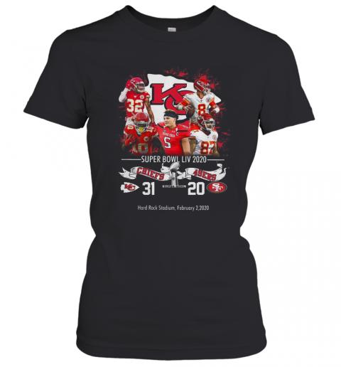 Kansas City Chiefs Nfl Super Bowl Liv 2020 Vs San Francisco 49ers T-shirt Classic Women's T-shirt