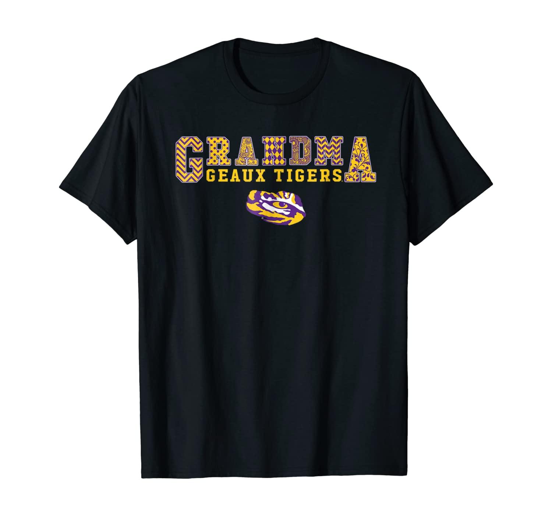 Lsu Tigers Patterned Grandma – Slogan T-shirt – Apparel
