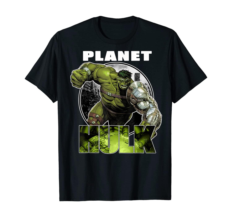 Marvel Planet Hulk Metal Arm Smash Graphic T-shirt