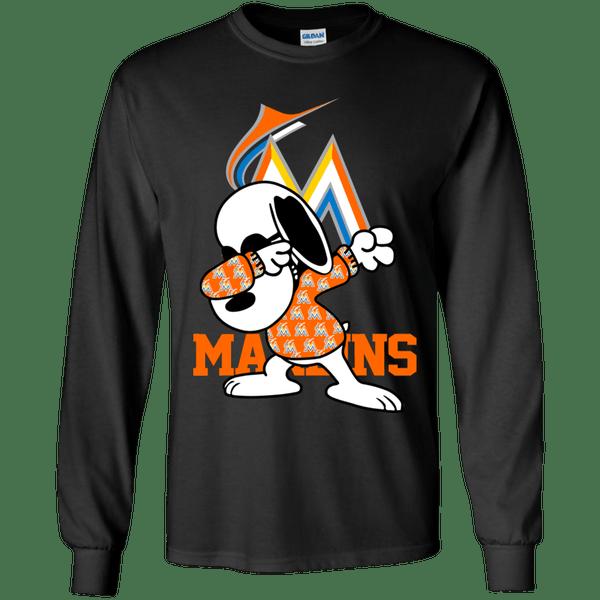 Miami Marlins Snoopy Dabbing Shirts