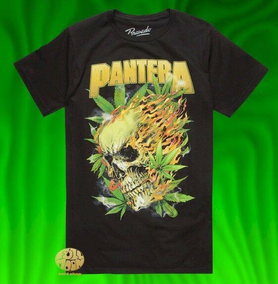 New Pantera Skull Leaf Classic Vintage Concert Band T Shirt