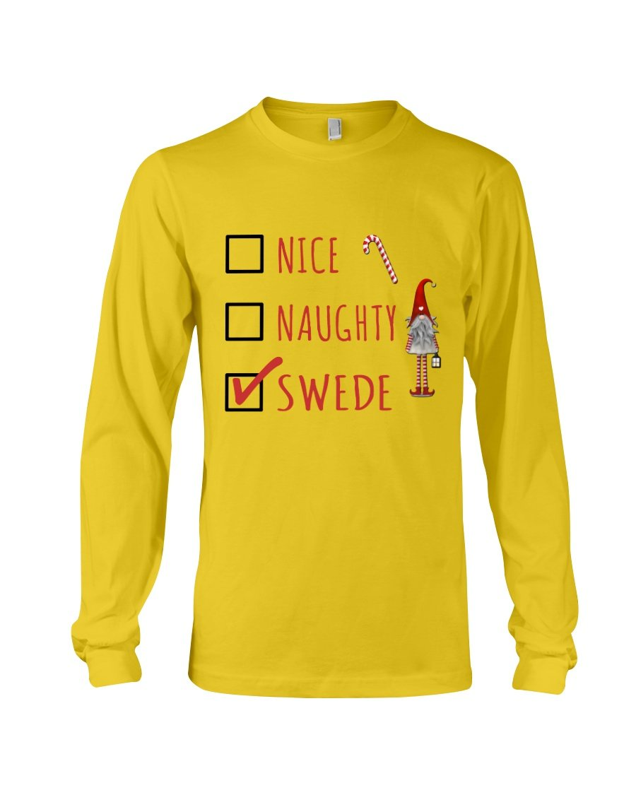Nice Naughty Swede Christmas Gift Navy Sweatshirt Unisex Long Sleeve