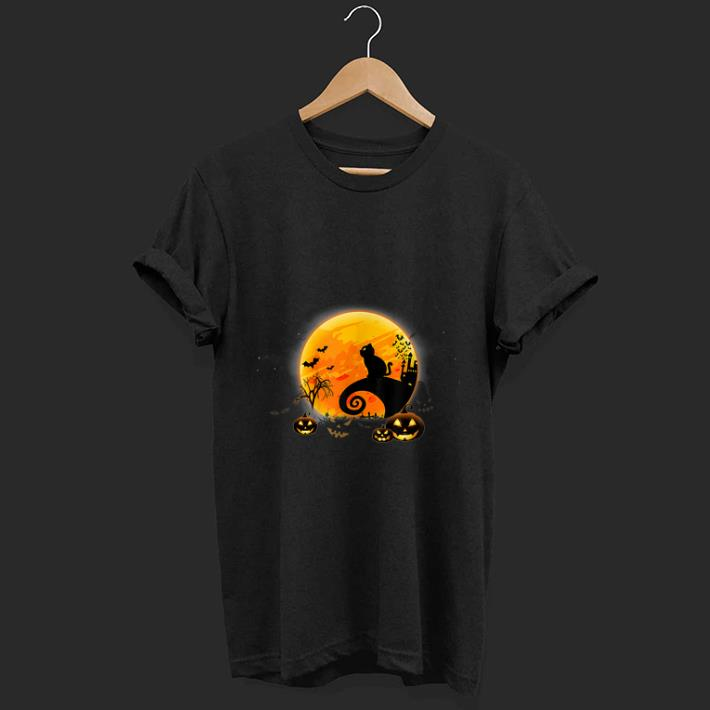 Premium Black Cat Pumpkin Moon Nightmare Before Christmas Shirt