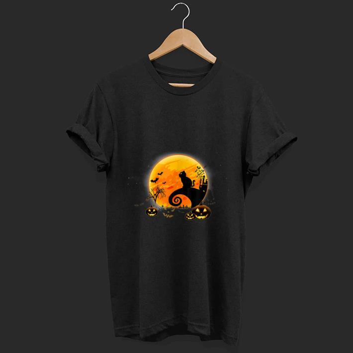 Premium Black Cat Pumpkin Moon Nightmare Before Christmas Shirt