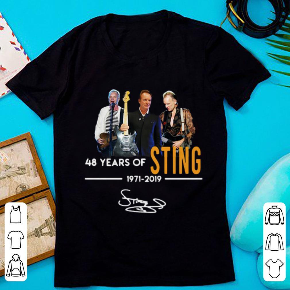 Pretty Sting 48 Years Of 1971 2019 Signature Shirt