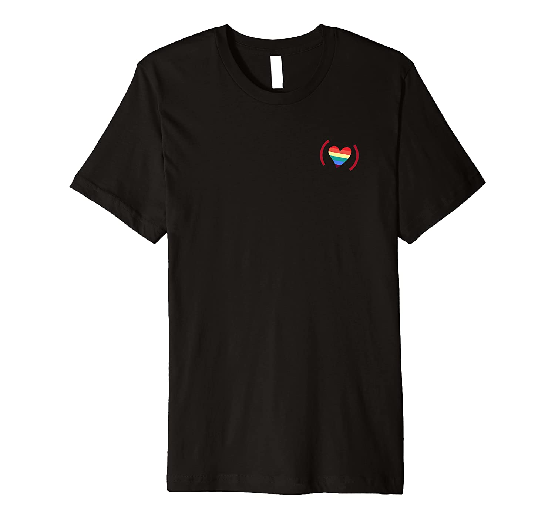 (red) Pride X Javier Munoz Rainbow Heart T-shirt