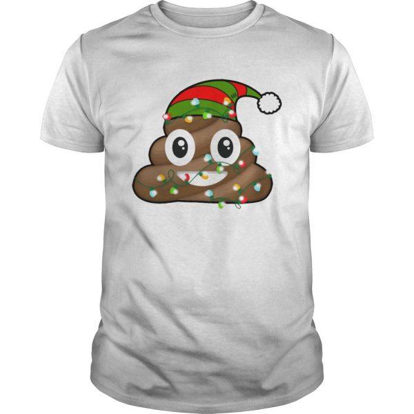 Reindeer Poop Emoji Cute Merry Christmas Red