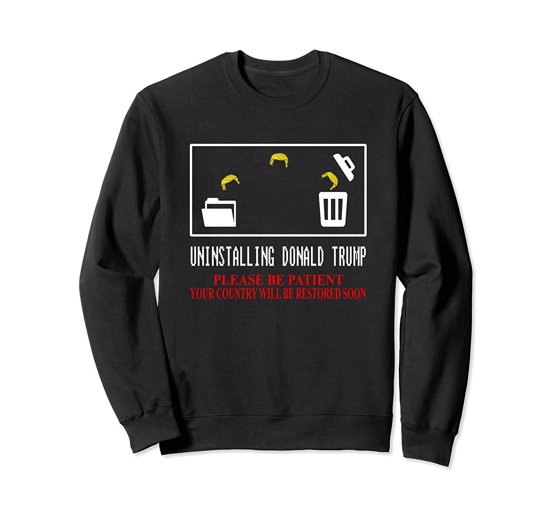 Uninstalling Donald Trump Funny Anti Trump Christmas Gift Sweatshirt