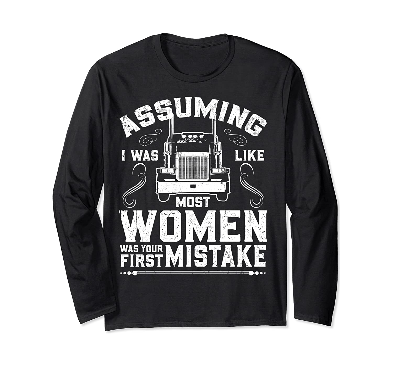 Woman Trucker Female Truck Driver Long Sleeve T-shirt
