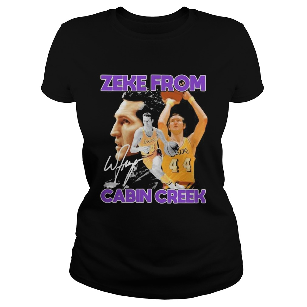 Zeke From Cabin Creek Los Angeles Lakers Basketball Signature Classic Ladies